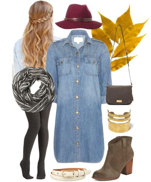 Polyvore Denim and Hat
